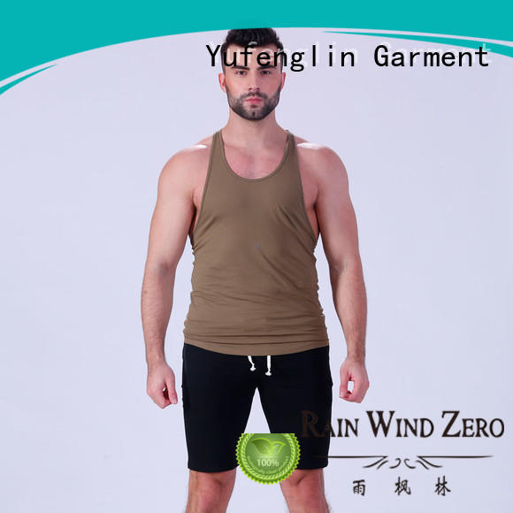 Yufengling tank gym tank tops mens tranning-wear for sports