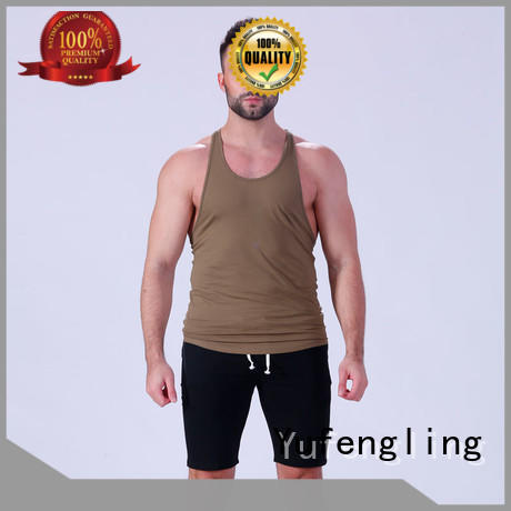 gym muscle tank tops sports-wear for sports Yufengling