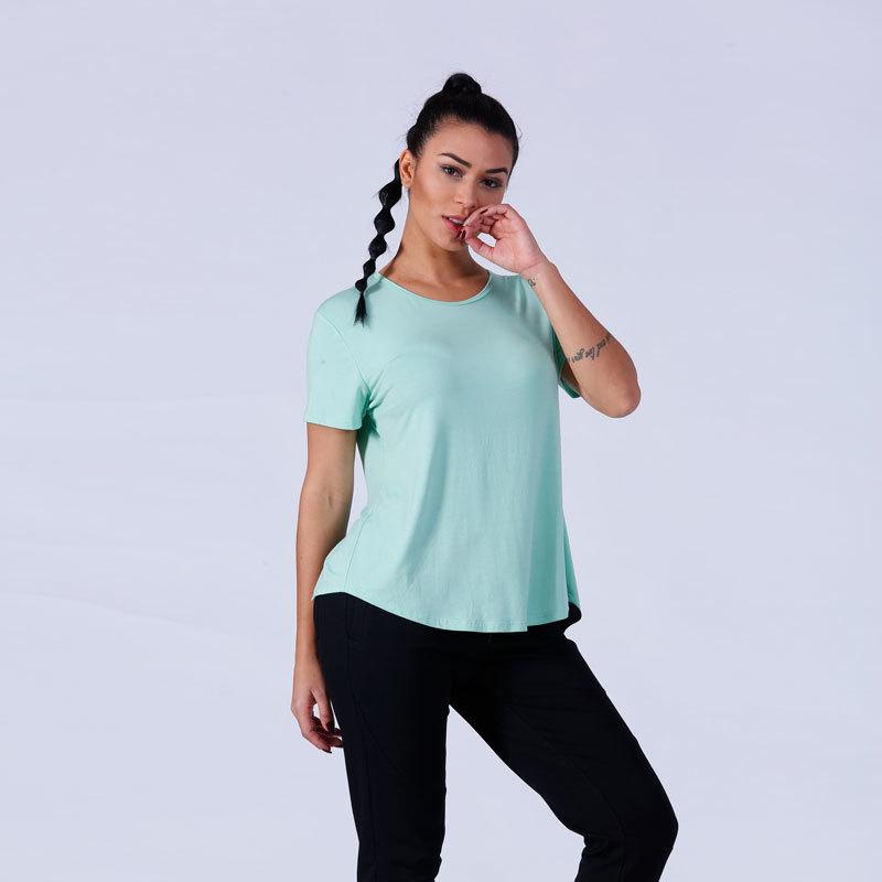 customized women casual sports gym t shirt YFLTSW1