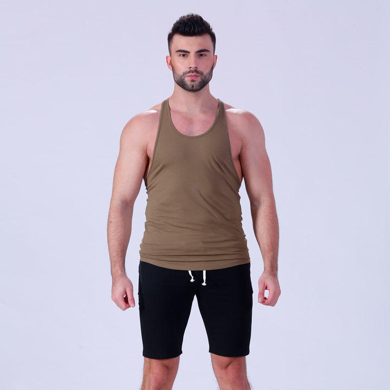 summer solid men gym tank tops YFLTKT01