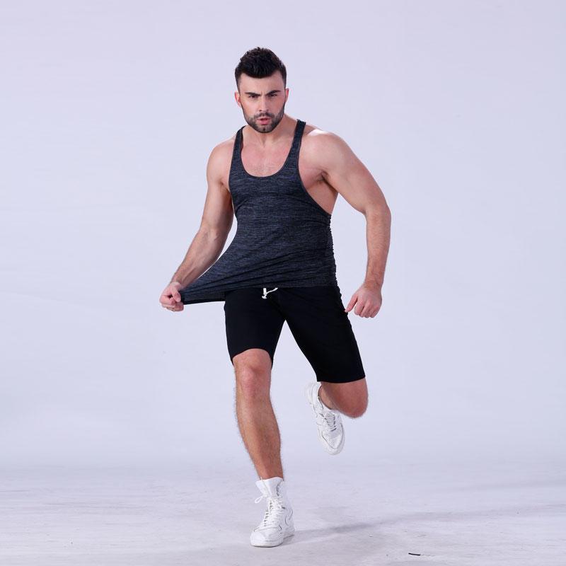 OEM custom men's gym loose fit muscle cut stringer tank tops YFLTKT02