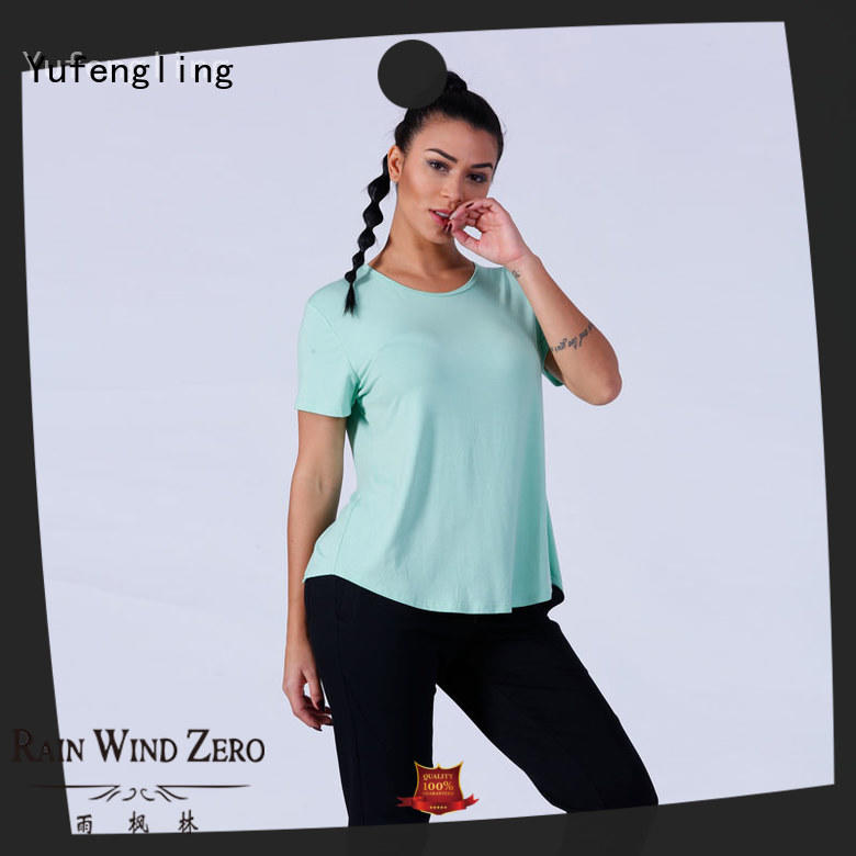 Yufengling color female t shirt o-neck yoga room