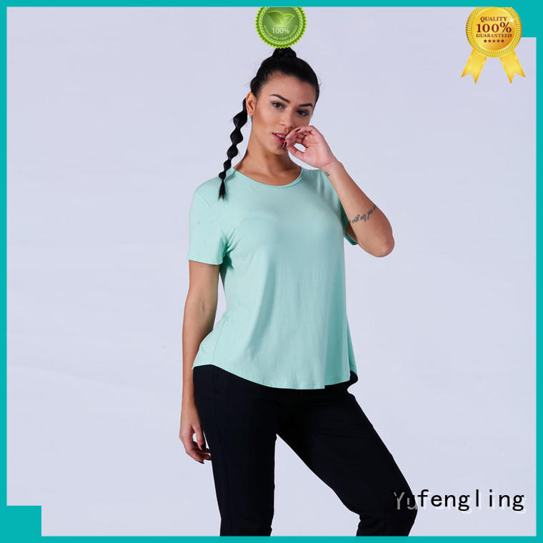 Yufengling stunning gym t shirts for ladies yoga wear