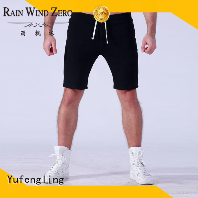 Yufengling plain gym shorts men wholesale for training house