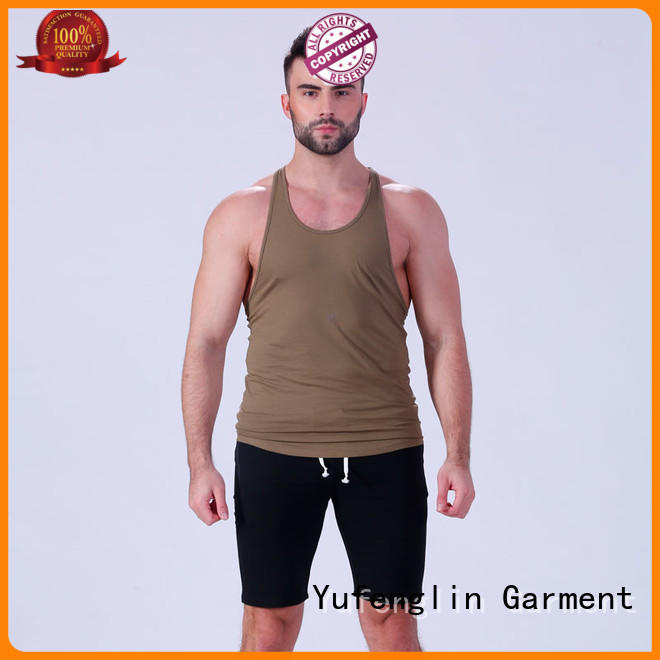 Yufengling durable mens workout tanks wholesale fitness centre