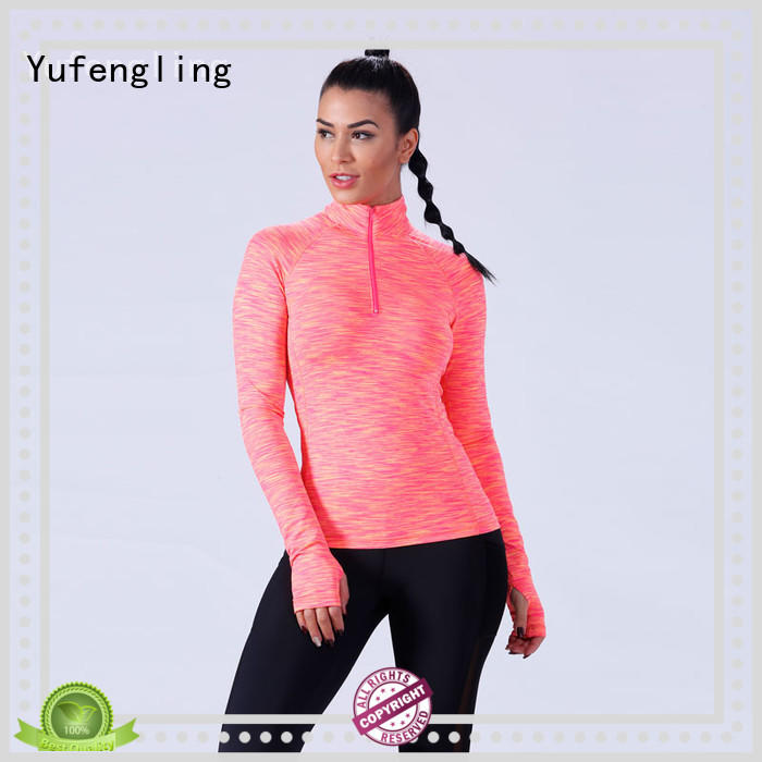 Yufengling casual gym t shirts for ladies in different color