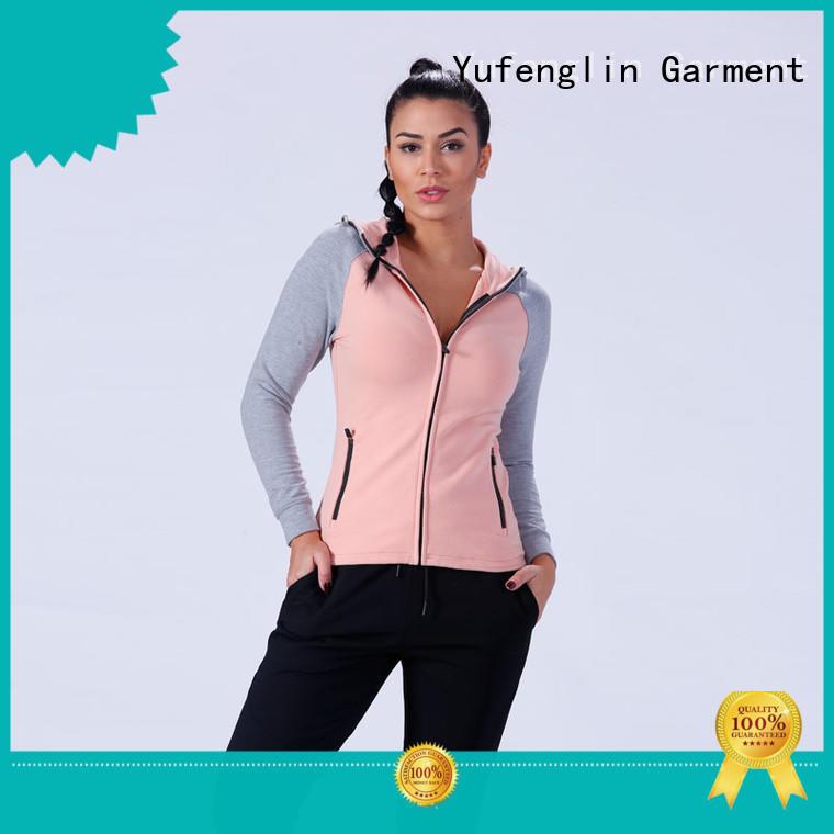 Yufengling zip-up womens sweatshirts traditional sportswear