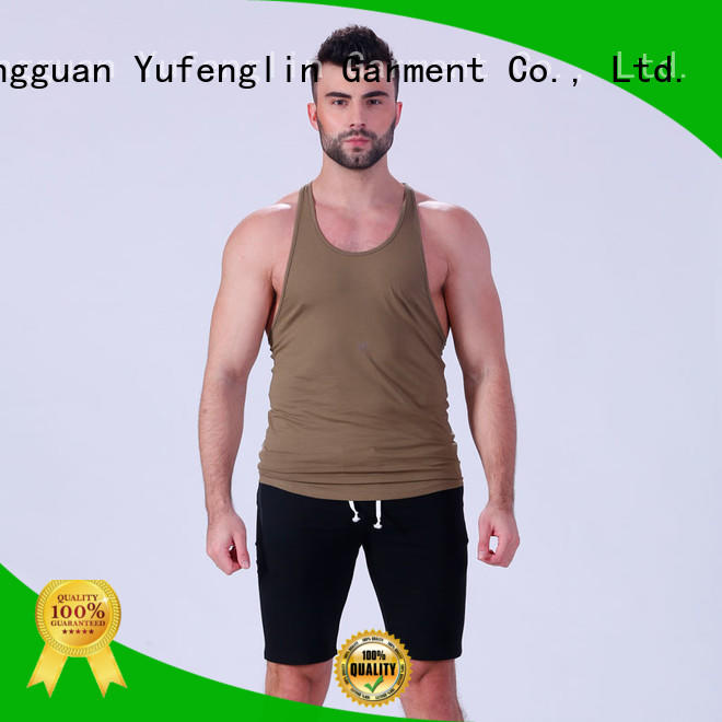 Yufengling hot-sale mens workout tanks for trainning