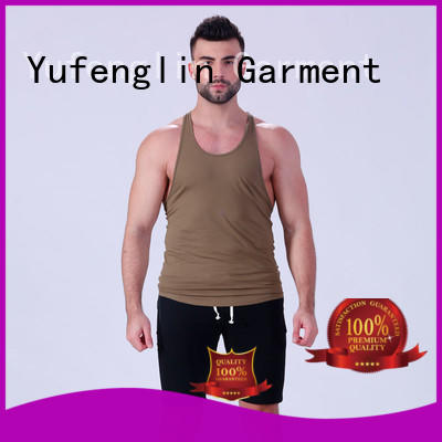 solid mens tank tops quality for sports Yufengling