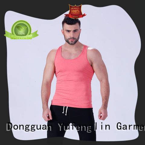 Yufengling solid gym tank tops mens fitting-style for sports