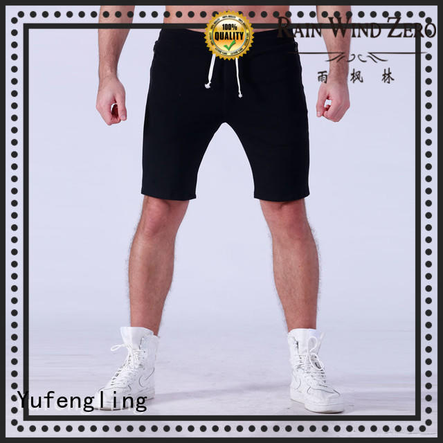 Yufengling cotton sports shorts for men  manufacturer yoga room