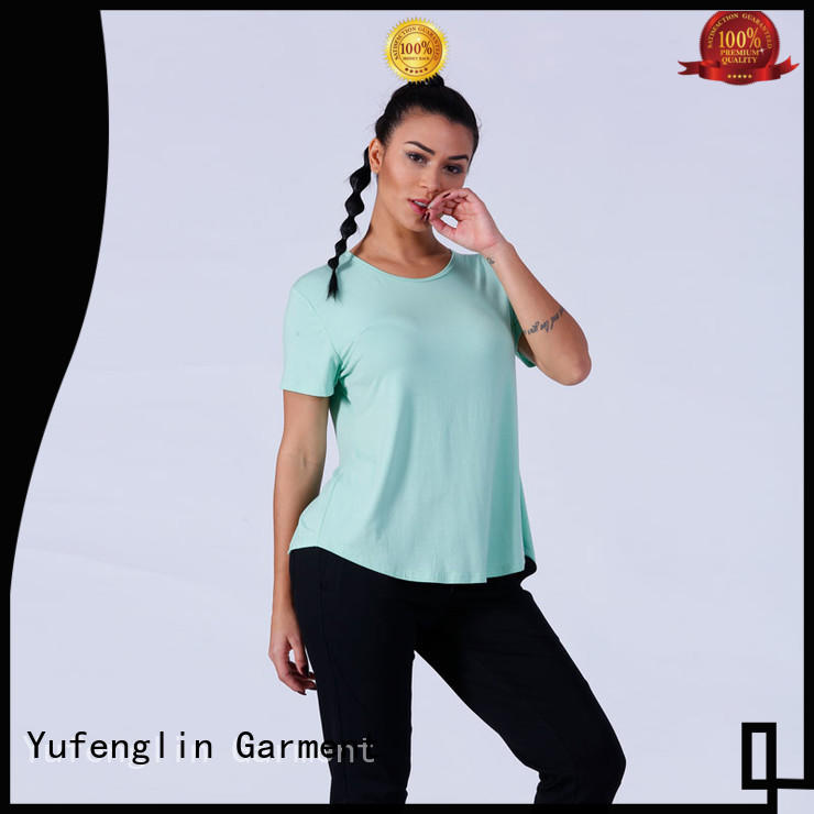 Yufengling short gym t shirts for ladies sporting-style colorful