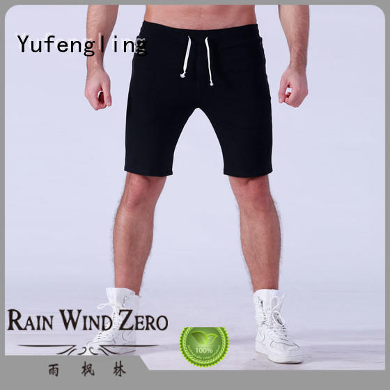 Yufengling quality mens athletic shorts o-neck in gym