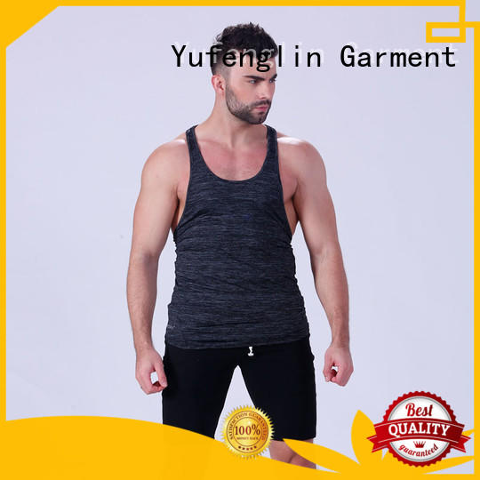 Yufengling Brand fit loose gym mens tank top quality