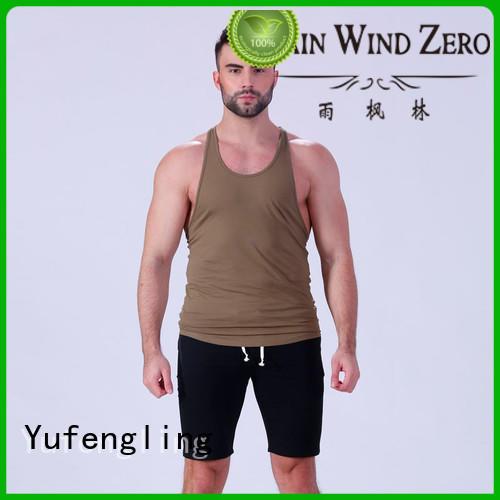 cool tank tops mens sports-wear yoga room Yufengling