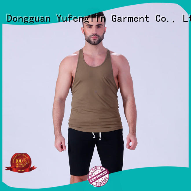 Yufengling tops gym tank tops mens sporting-style exercise room