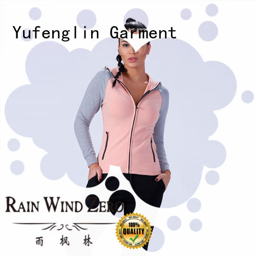 Yufengling zip-up gym hoodies womens collection exercise room