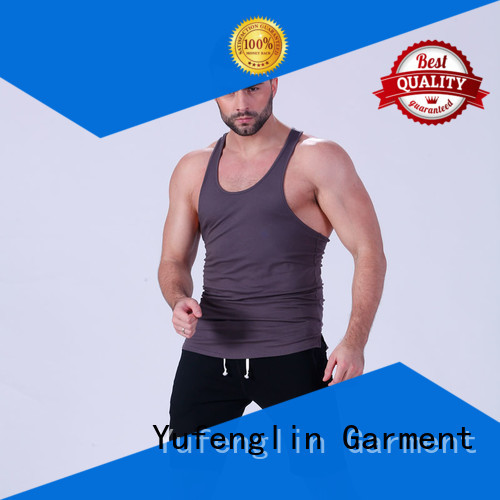 Yufengling durable male tank tops fitness exercise room