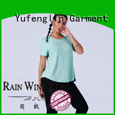 O neck female t shirt sports colorful Yufengling