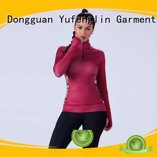 O neck tee shirts for women customized yoga room Yufengling