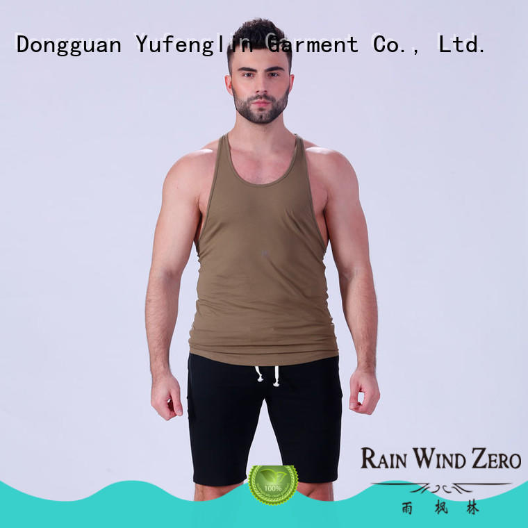 gym fit mens tank tops Yufengling Brand