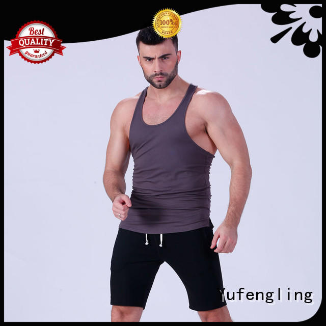 Yufengling loose mens muscle tank casual-style for sports