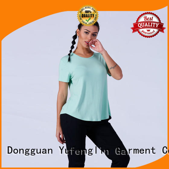 lovely women's t shirts sporting-style yoga room