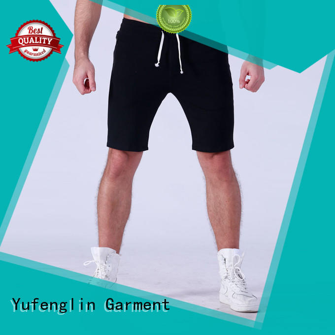 Yufengling gym mens athletic shorts in different color yoga room