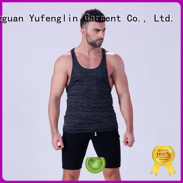 Yufengling cut male tank tops fitness