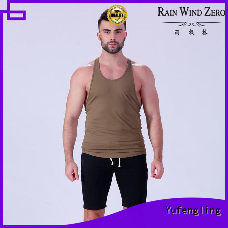 Yufengling summer bodybuilding tank tops sleeveless for sports