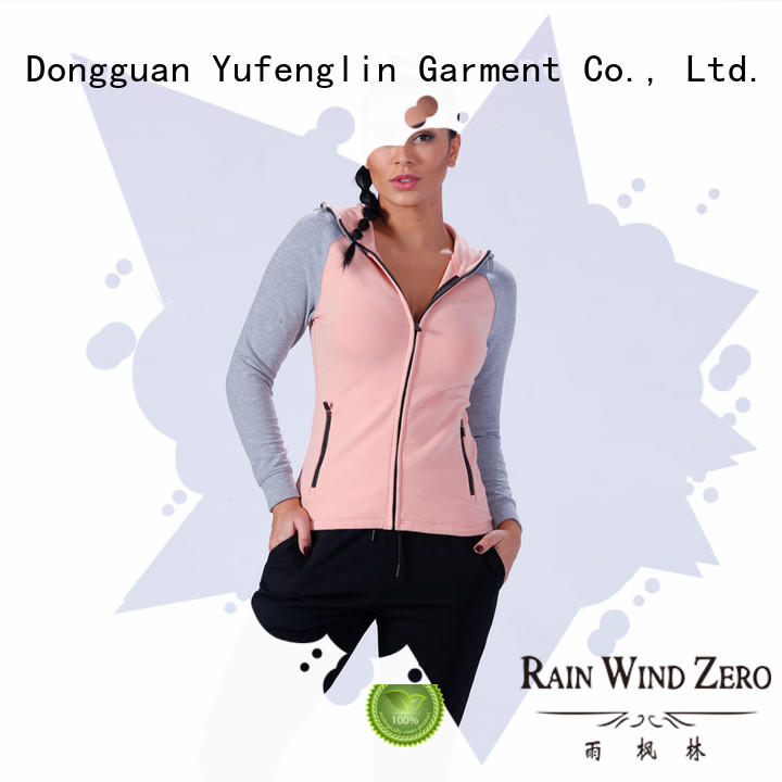 Yufengling color zip up hoodies fitting-style yoga room