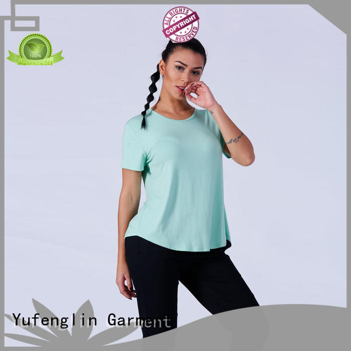 Yufengling stunning blank t-shirt yoga wear colorful