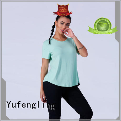 comfortable customize t shirts crop fitting-style yoga room