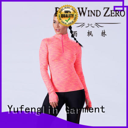 Yufengling comfortable customize t shirts for-womans yoga room