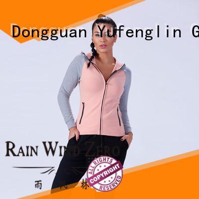 Yufengling long zip up hoodies hood opening for trainning