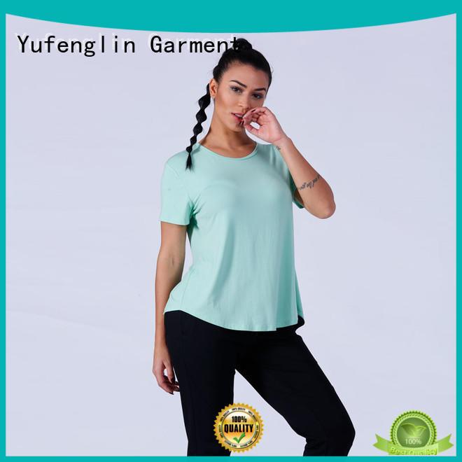 zipper sports camo crop Yufengling Brand customize t shirts supplier