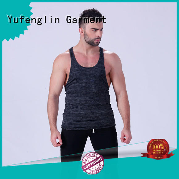 Yufengling solid male tank tops casual-style fitness centre