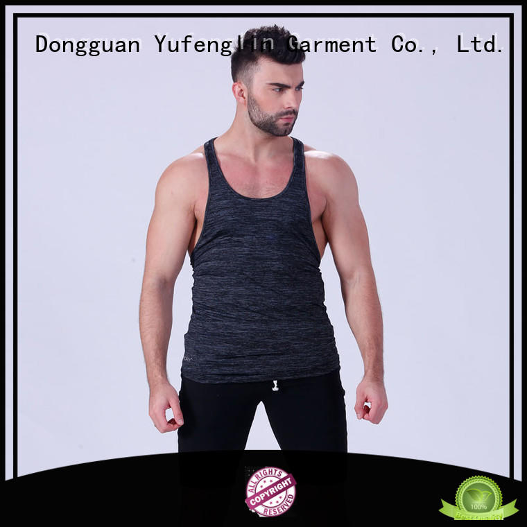 cool tank tops mens tranning-wear fitness centre Yufengling