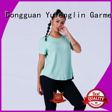 Yufengling color t shirts for women sporting-style for training house