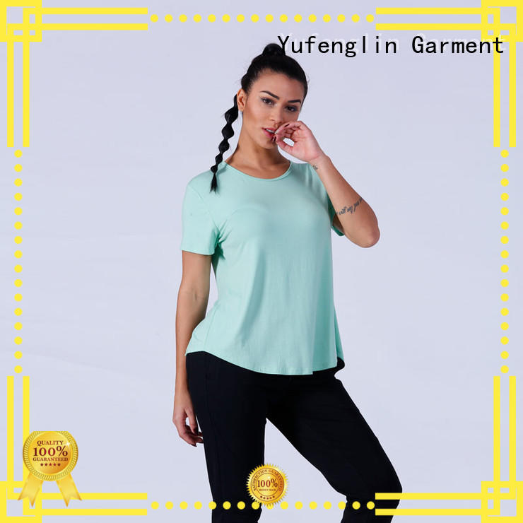 Yufengling yfltp01 t shirts for women yoga wear exercise room