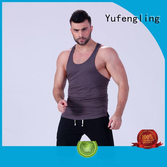 exquisite men stringer sleeveless in gym Yufengling