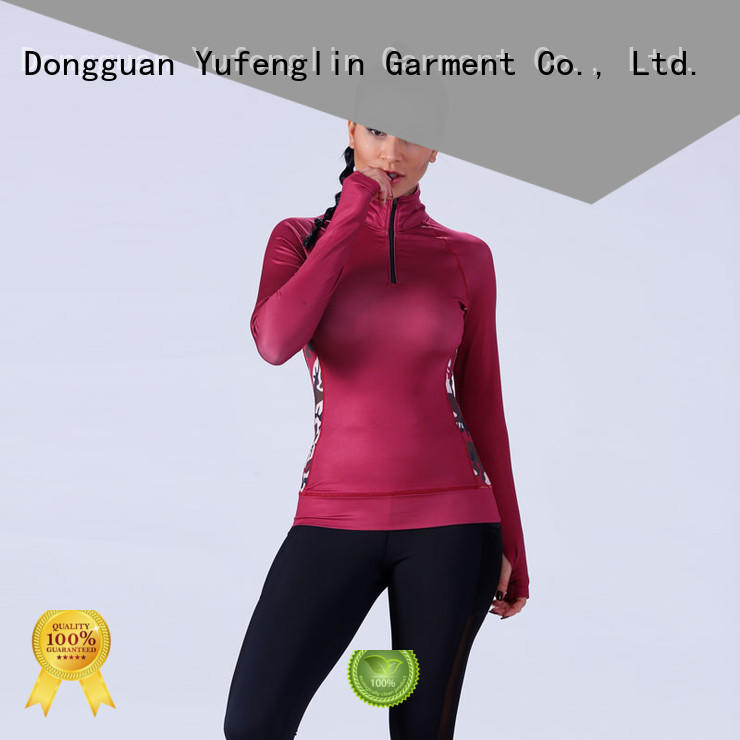 zipper contract top casual customize t shirts Yufengling