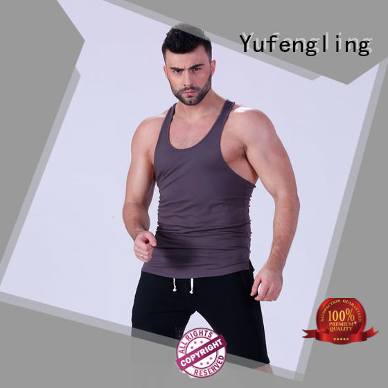 Yufengling gym mens workout tanks fitness exercise room