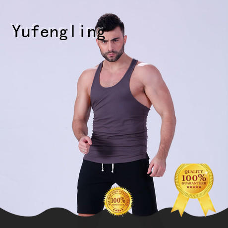 Yufengling solid bodybuilding tank tops fitting-style in gym