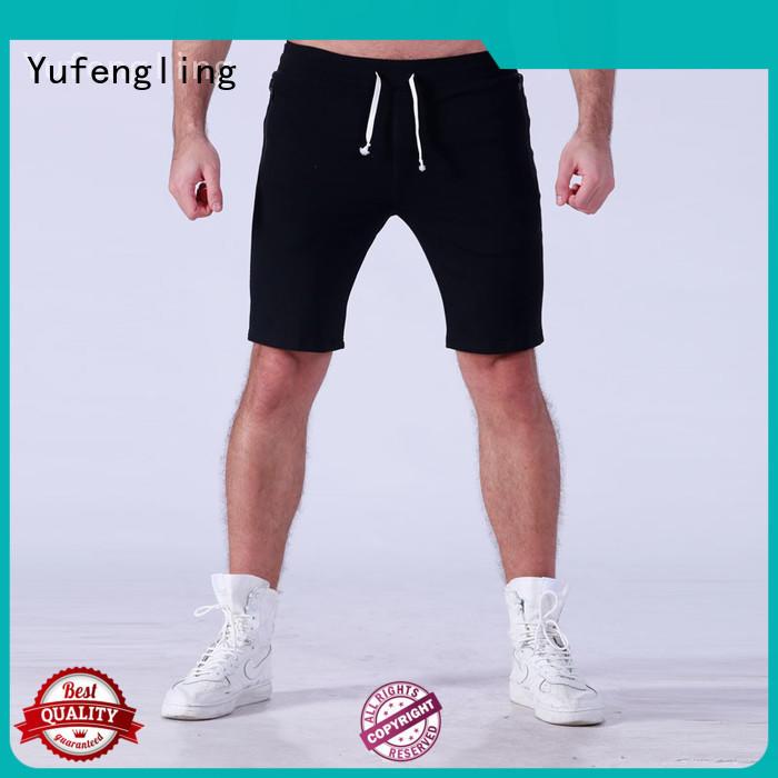 Yufengling plain mens workout shorts wholesale gymnasium