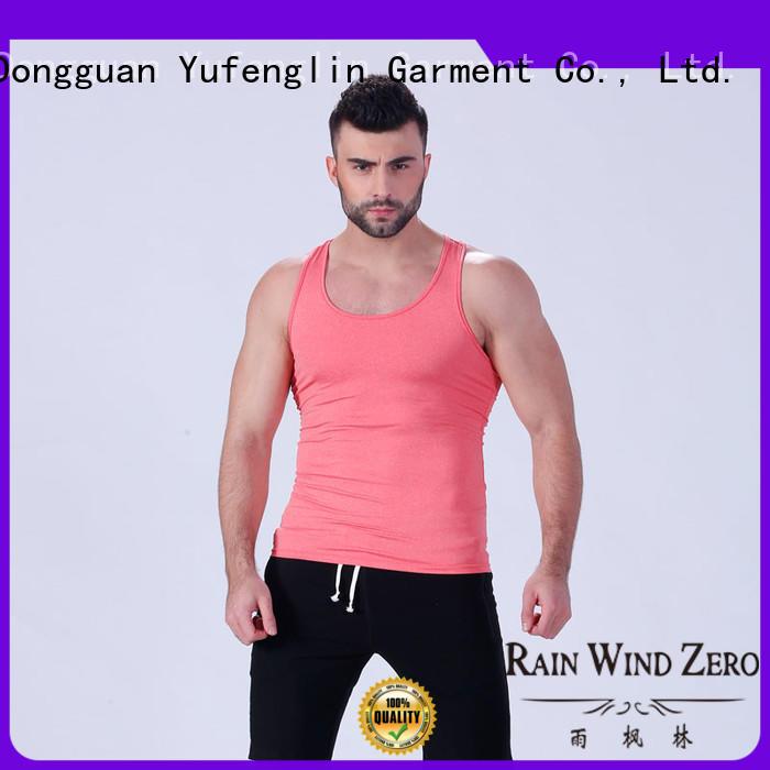 Custom solid mens tank tops tops Yufengling
