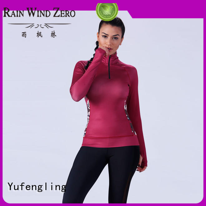 Yufengling comfortable best t shirt design yoga wear exercise room