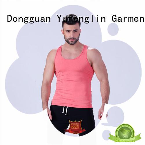 Yufengling solid men singlet sleeveless fitness centre