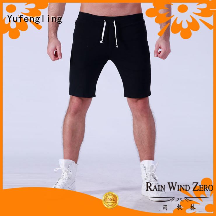 Yufengling durable gym shorts men wholesale fitness centre