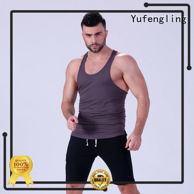 Yufengling oem mens tank tops sporting-style yoga room